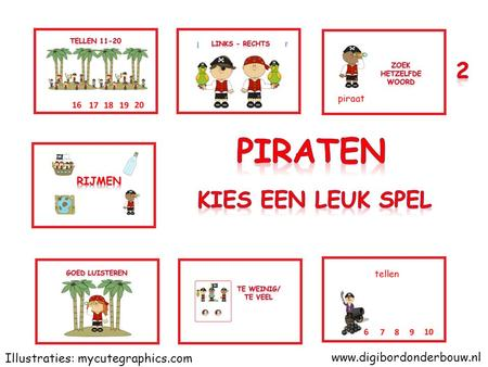 www.digibordonderbouw.nl Illustraties: mycutegraphics.com.
