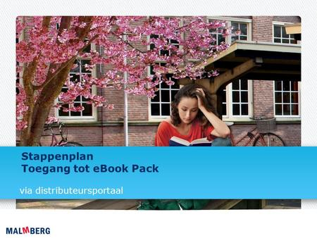Stappenplan Toegang tot eBook Pack via distributeursportaal.