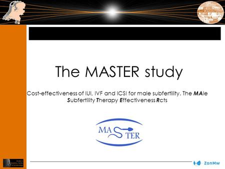 The MASTER study Cost-effectiveness of IUI, IVF and ICSI for male subfertility. The MA le S ubfertility T herapy E ffectiveness R cts.