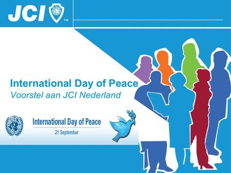 International Day of Peace Voorstel aan JCI Nederland.