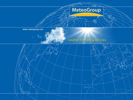 Www.meteogroup.com weather forecasting services Title, Author, Date, Page 1.