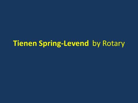 Tienen Spring-Levend by Rotary. AED project Rotary Tienen.