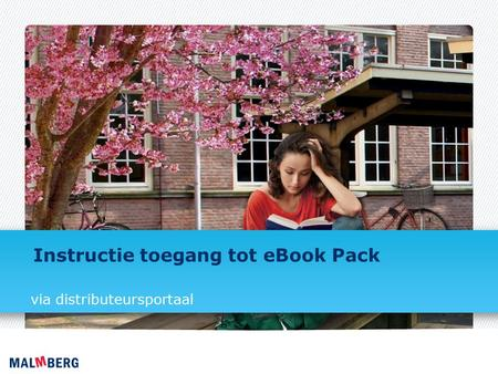 Instructie toegang tot eBook Pack via distributeursportaal.