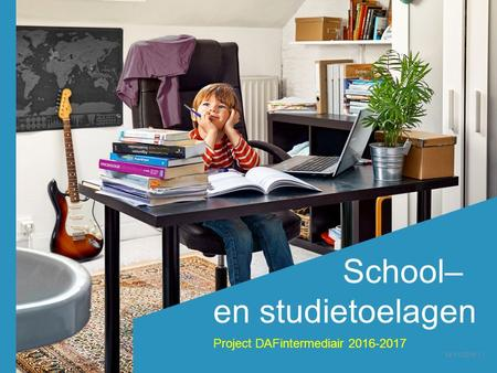School– en studietoelagen Project DAFintermediair /11/2016 │1.