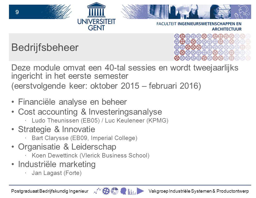 10 Integratie Deze module omvat een 30-tal sessies en wordt tweejaarlijks ingericht in het tweede semester (eerstvolgende keer: februari 2016 – juni 2016) Management game New ORSIAM Ltd.