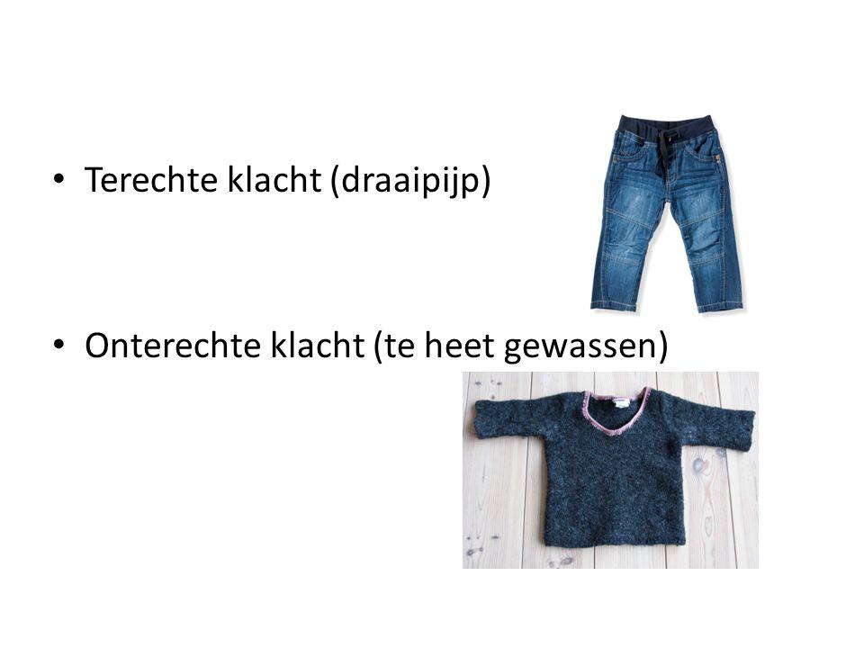 Soorten klachten Maar ook: Fabrikagefout: fout in de productie (gegronde klacht) Winkelfout: Door de winkel gemaakt.