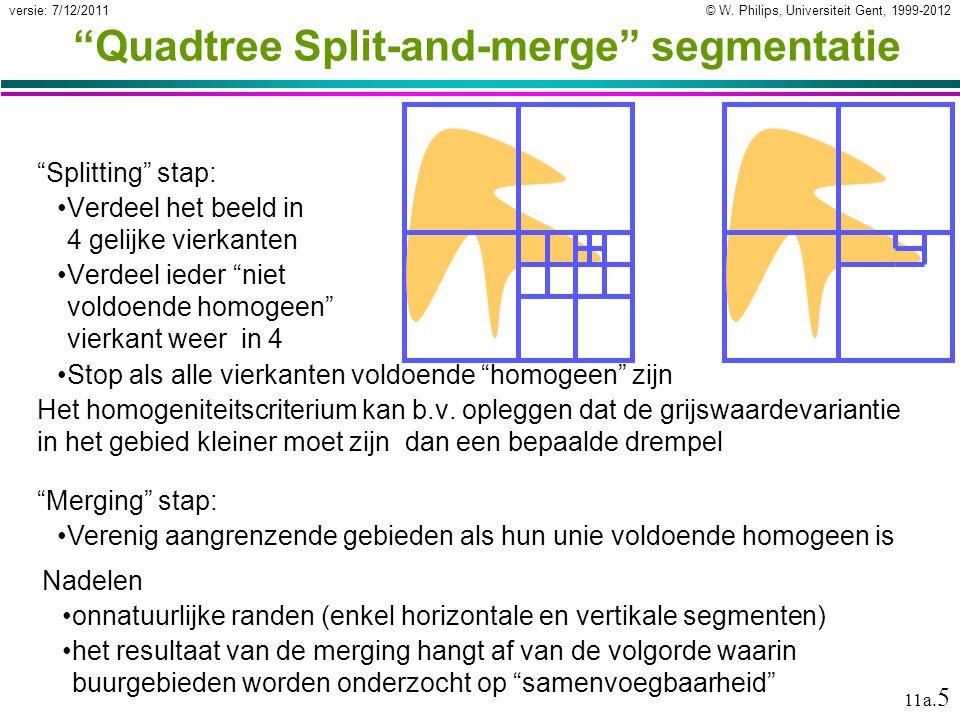 © W.Philips, Universiteit Gent, 1999-2012versie: 7/12/2011 11a.