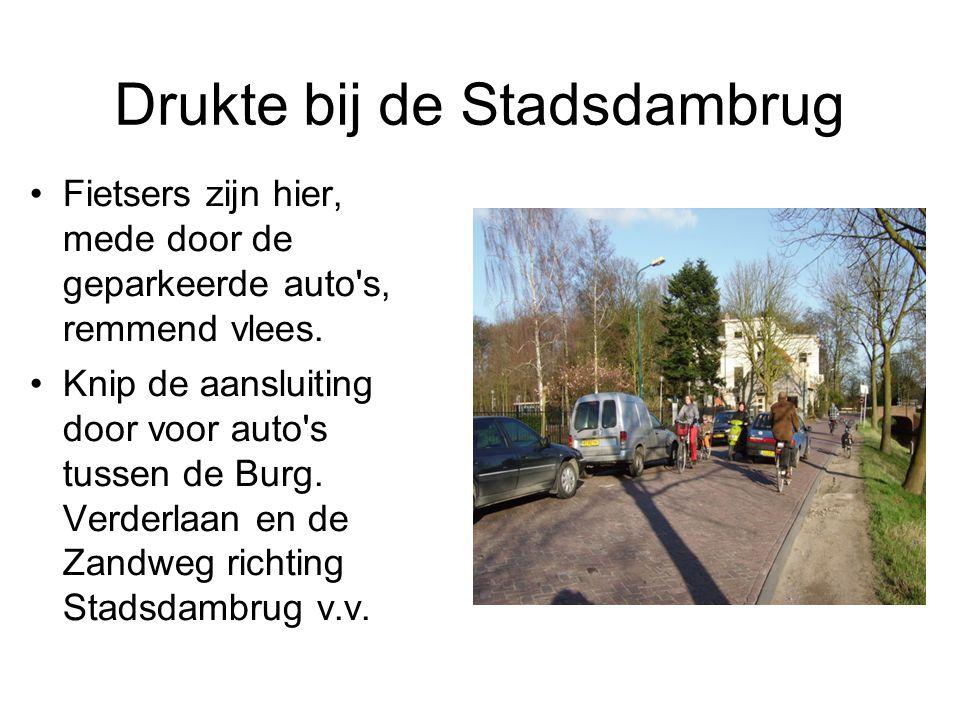 Voorrang De Zandweg is hoofd- fietsroute en verdient voorrang op de Burg.