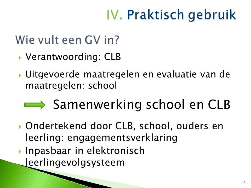  Papieren versie: Alle partijen ondertekenen = akkoord voor doorgeven Alle partijen zijn mede-eigenaar = hebben het recht om het document door te geven naar de volgende school.