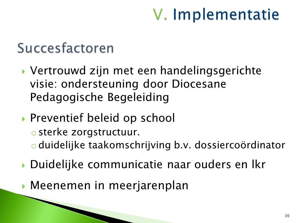  Directie  Inspraak van ouders en leerlingen  Duidelijke afspraken met het CLB: ELAN  Efficiënt ICT-gebruik  Procesbegeleider- en bewaker 37