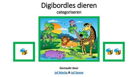 Digibordles dieren categoriseren