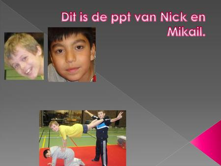 Dit is de ppt van Nick en Mikail.