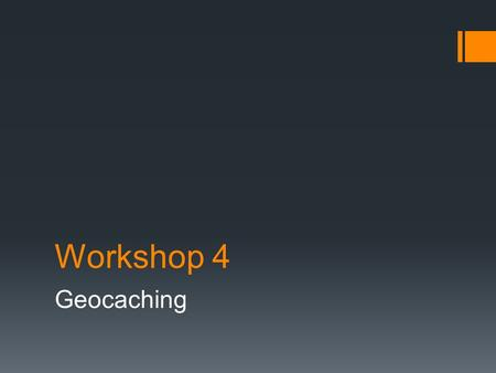 Workshop 4 Geocaching. Vooraf  Google Plus: lid worden van de Community Street Art Gent  Op de smartphone de volgende applicaties downloaden en installeren: