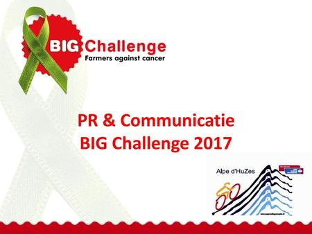 PR & Communicatie BIG Challenge 2017
