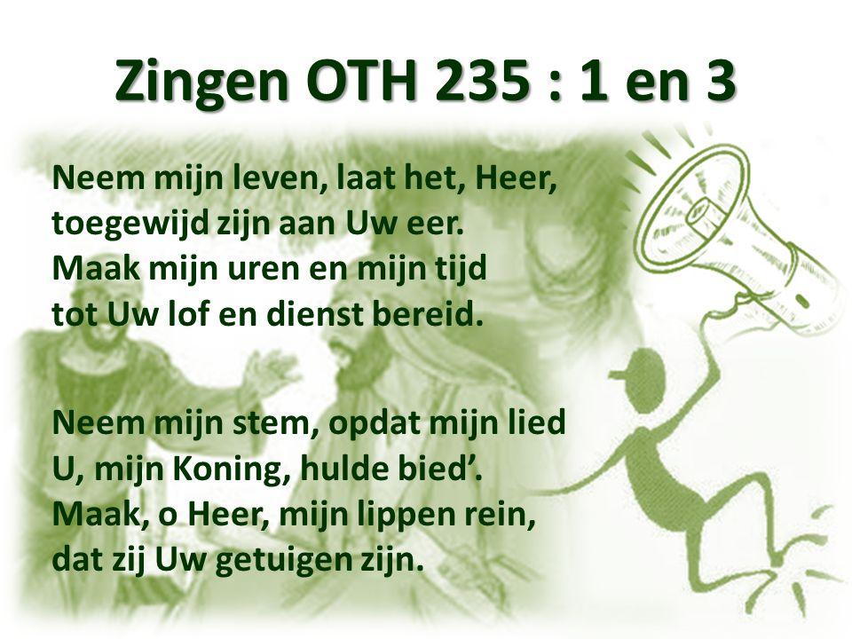Zingen Kerstlied Heer, God U loven wij, Heer, U belijden wij.