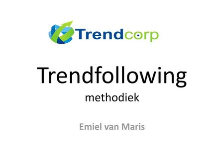 Trendfollowing methodiek