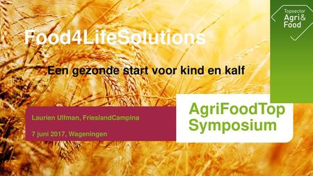 Food4LifeSolutions AgriFoodTop Symposium