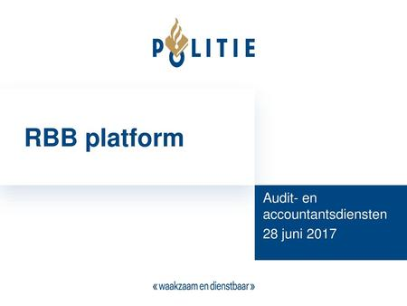 Audit- en accountantsdiensten 28 juni 2017