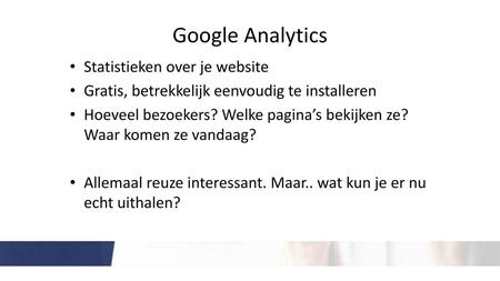 Google Analytics Statistieken over je website