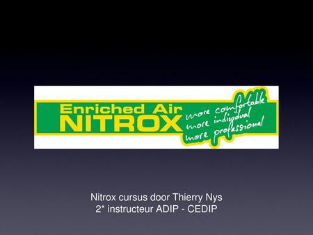 Nitrox cursus door Thierry Nys 2* instructeur ADIP - CEDIP