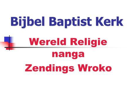vertaling woord baptist