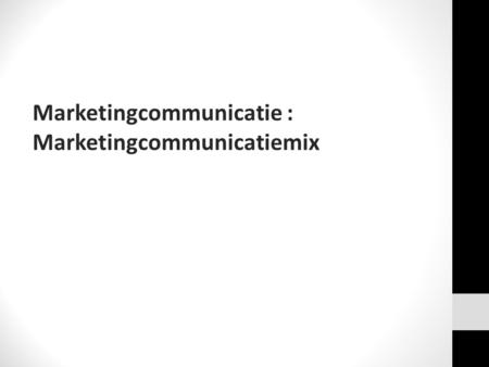 Marketingcommunicatie :