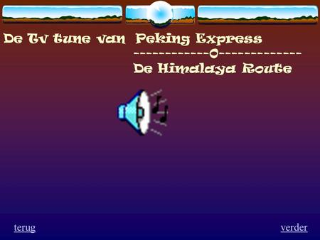 De Tv tune van Peking Express