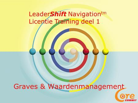 Graves & Waardenmanagement LeaderShift Navigation tm Licentie Training deel 1.