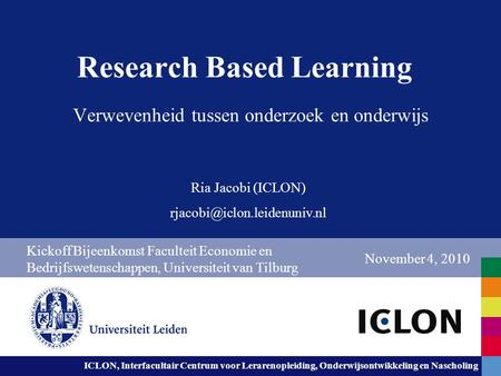 Research Based Learning