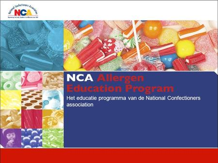 Het educatie programma van de National Confectioners association.