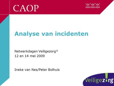 Analyse van incidenten