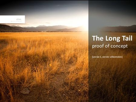 The Long Tail proof of concept [versie 1, eerste uitkomsten]