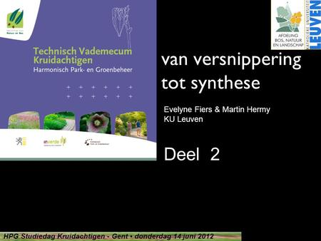 van versnippering tot synthese