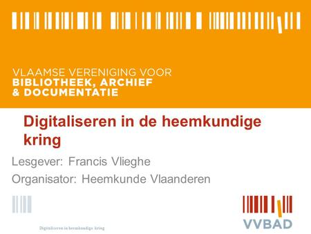 Digitaliseren in de heemkundige kring