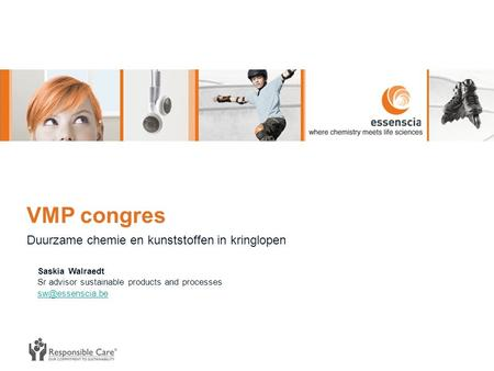 VMP congres Duurzame chemie en kunststoffen in kringlopen Saskia Walraedt Sr advisor sustainable products and processes