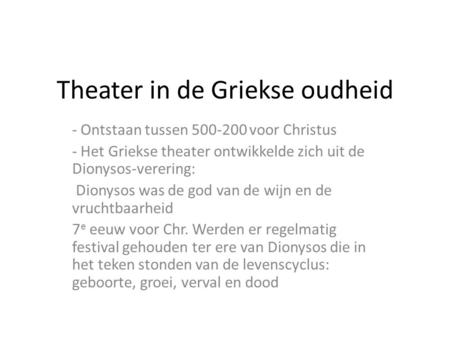 Theater in de Griekse oudheid