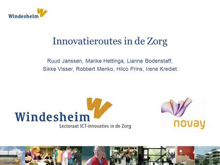 Innovatieroutes in de Zorg