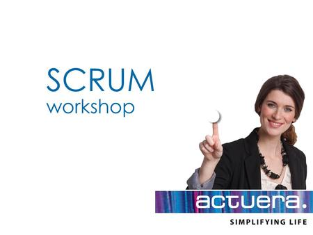 SCRUM workshop.