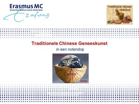 Traditionele Chinese Geneeskunst in een notendop.