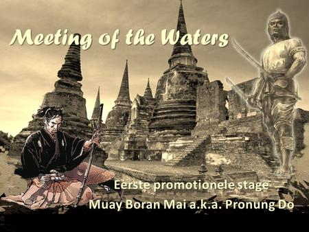Eerste promotionele stage Muay Boran Mai a.k.a. Pronung Do
