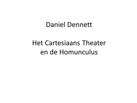Het Cartesiaans Theater