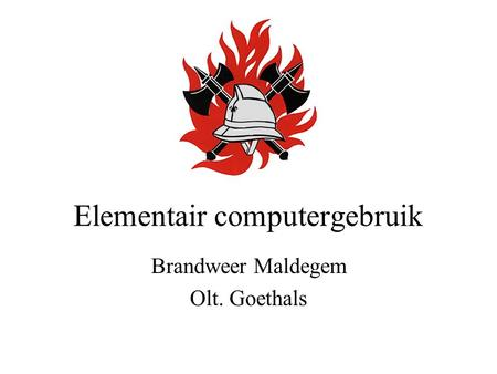 Elementair computergebruik