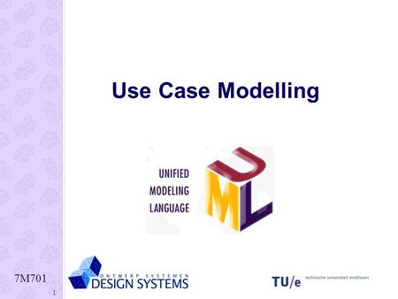 7M701 1 Use Case Modelling. 7M701 2 Use Case diagram voorbeeld.