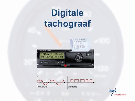 Digitale tachograaf.