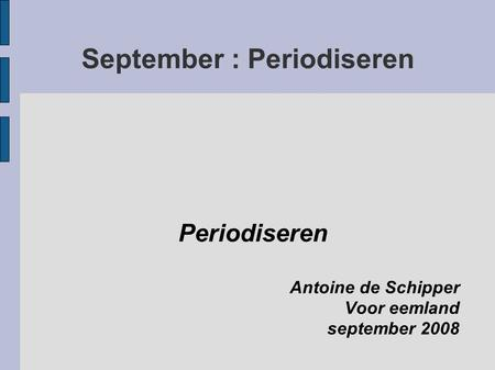 September : Periodiseren