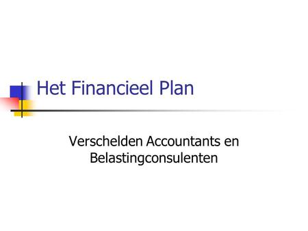 Verschelden Accountants en Belastingconsulenten