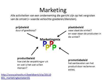 Marketing Marketingmix