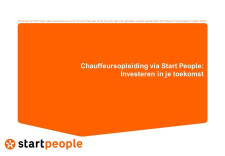 Chauffeursopleiding via Start People: Investeren in je toekomst