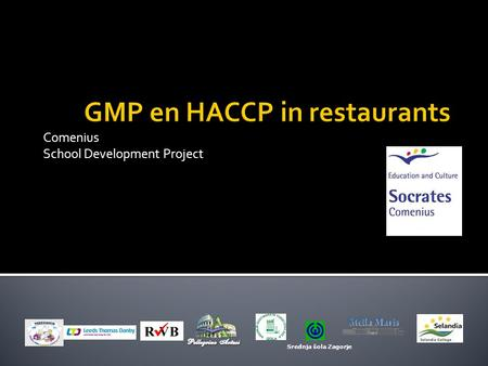 GMP en HACCP in restaurants