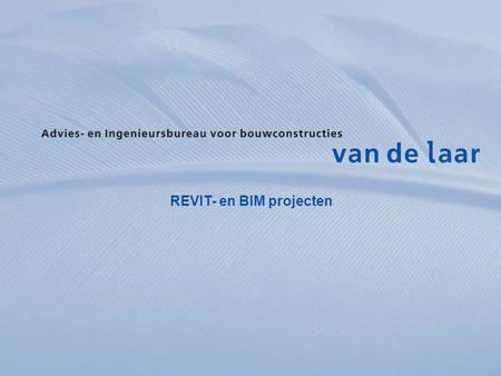 REVIT- en BIM projecten